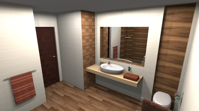 Bathroom 3D Design Modern Bathroom Toronto by POLMASTER