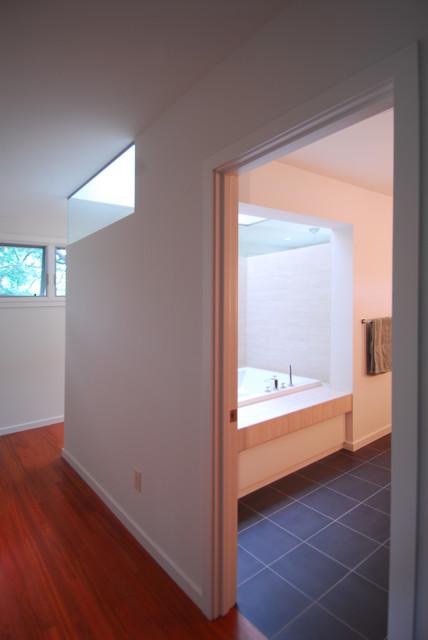 Creekside Oasis contemporary-bathroom