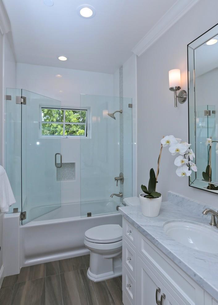 Example of a beach style bathroom design in San Francisco