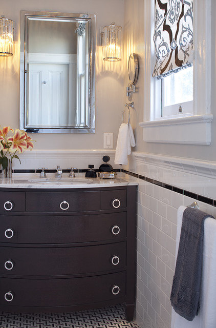 black and white bathroom  bathroom