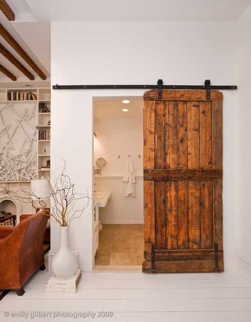 Bathroom Barn Door eclectic-bathroom