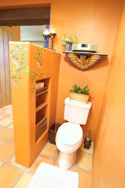 Bathroom- Bold Mexican-style mediterranean-bathroom