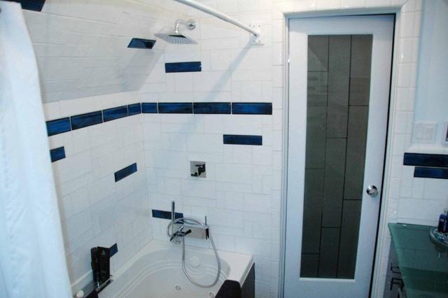 Bathroom Border Tile Modern Bathroom Denver By