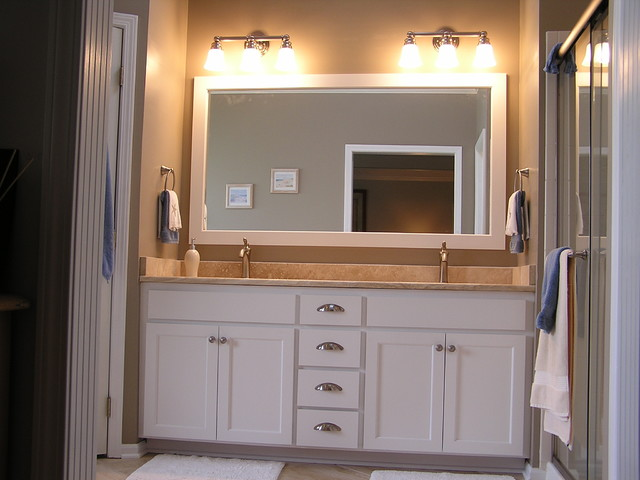 Bathroom Cabinet Remodel bathroom cabinet refacing - traditional - bathroom - kansas city