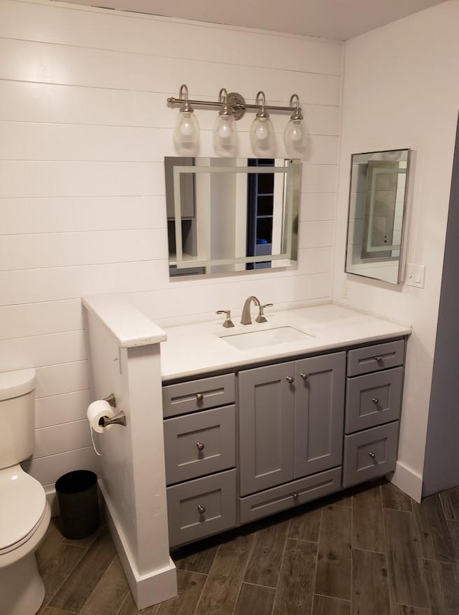Bathroom Cabinetry with Quartz Countertop