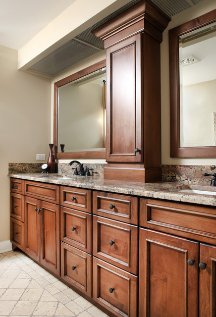 Bathroom Cabinets Traditional Bathroom Chicago By Normandy Remodeling