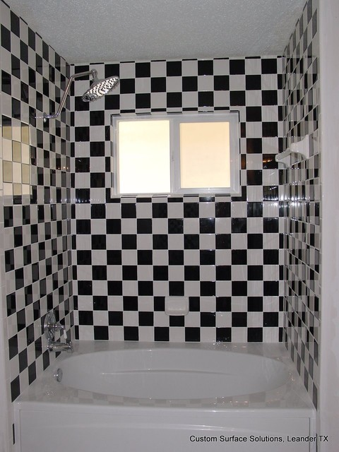 Black And White Checkered Floor In Bathroom : Bathroom checkered black and white eclectic