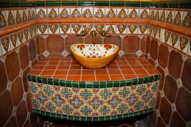 mexican tile bathroom austin by clay imports