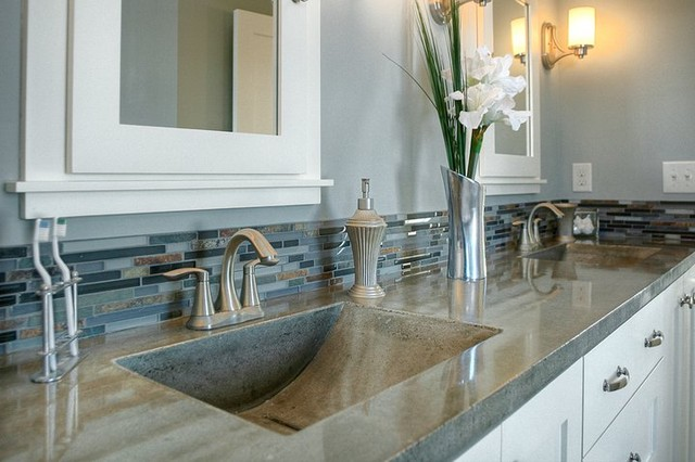 Cement Bathroom Sink : Bathroom concrete sinks - Modern - Bathroom Sinks - Minneapolis - by ...