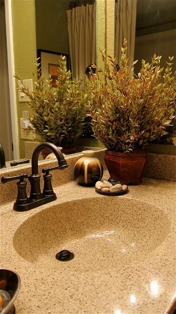 Bathroom Condo remodel using Cultured Marble eclectic-bathroom