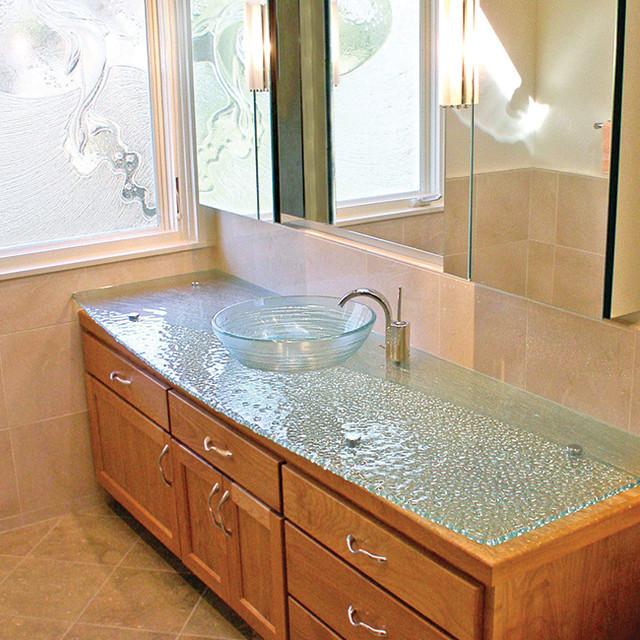 Bathroom Countertop Contemporary Bathroom San Diego