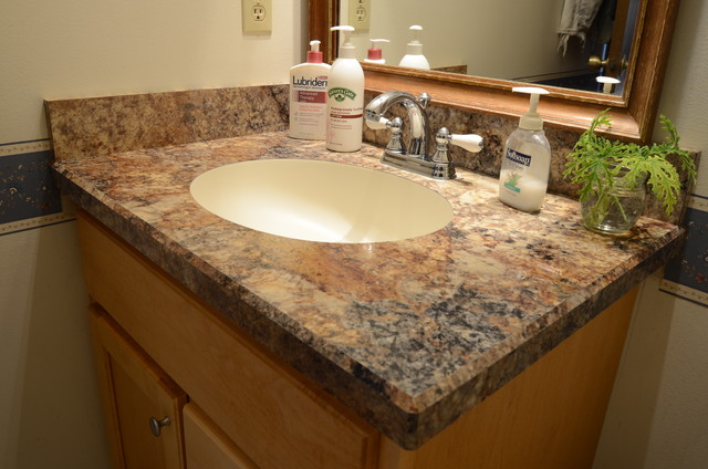 Traditional Bathroom by Country Cabinets. Bathroom Countertops 101  The Top Surface Materials