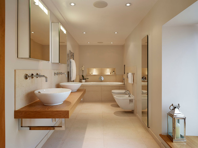 Bathroom Country Home Contemporary Bathroom Wiltshire By Hobsons Choice