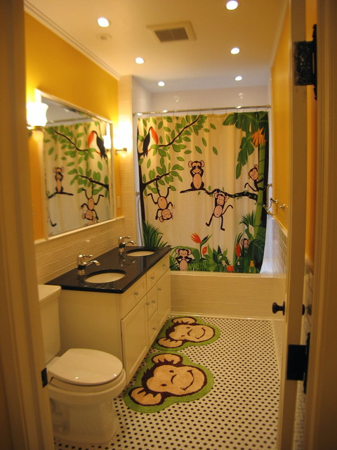 brownstone renovation kids bath traditional bathroom