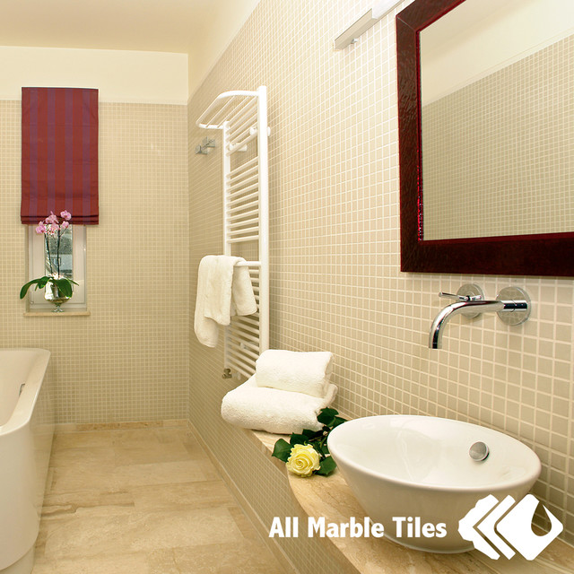 Bathroom Design Ideas with Square Mosaic tiles ...