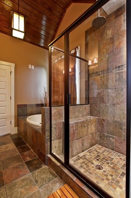 Bathroom designs traditional bathroom by luxe homes for Traditional master bathroom ideas