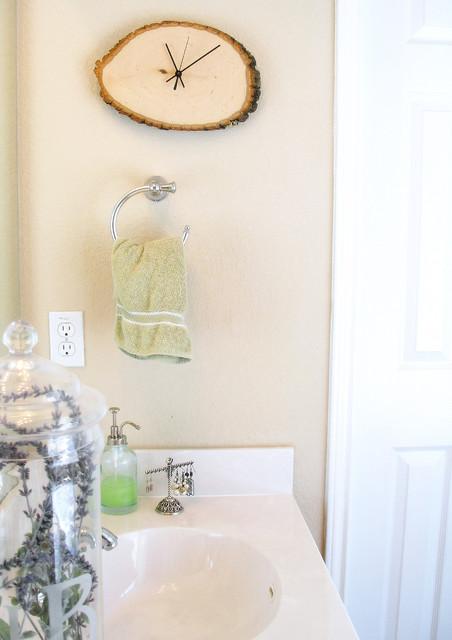 Bathroom Driftwood Clock eclectic-bathroom