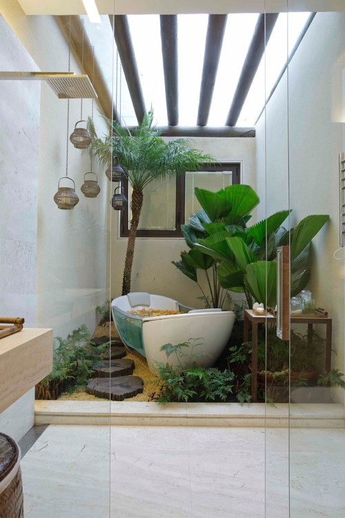 Indoor Garden in Barhroom