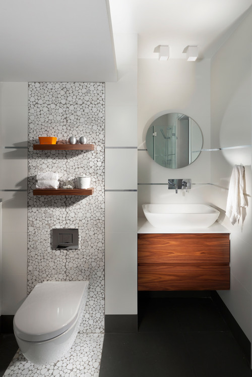 houzz contemporary bathrooms what size floating shelves toilet 13180
