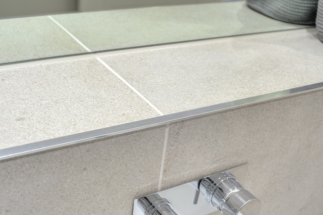 Bathroom Escape Grey amp Tile Edge Trim Contemporary