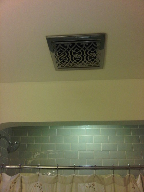 We Found A Heater Vent Grille That We Liked Better Than The Plastic Grille  That Came With Our Fan: