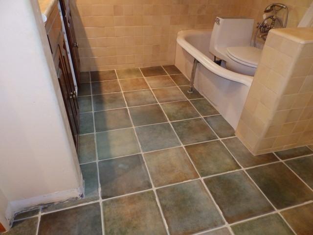 Bathroom Floor Replacement Rustic Bathroom Los Angeles By Tile Stone Pro