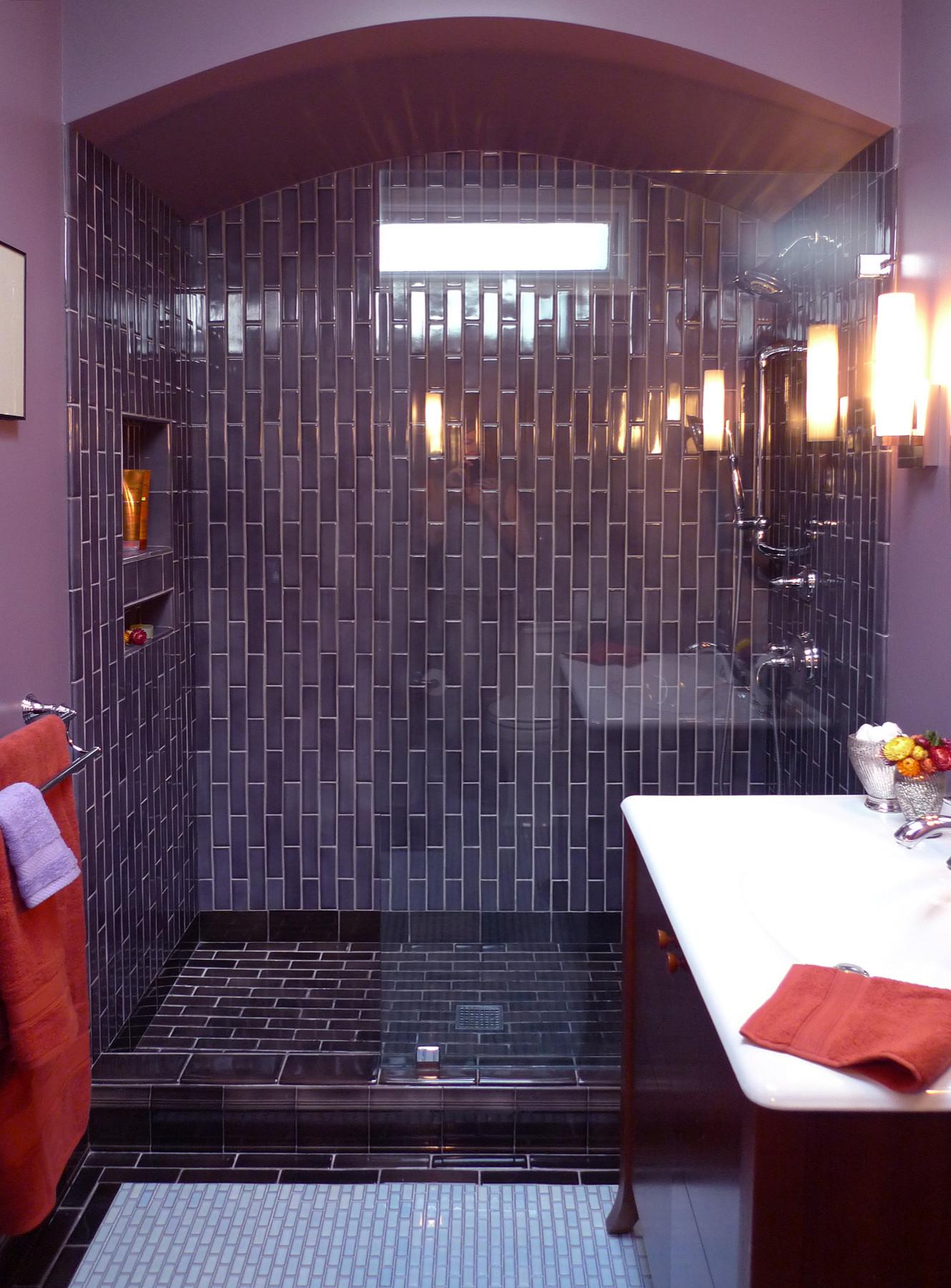 75 Beautiful Purple Bathroom Pictures, Purple Bathroom Decorating Ideas Pictures
