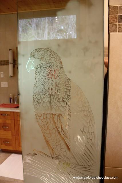 Bathroom Glass Features transitional-bathroom