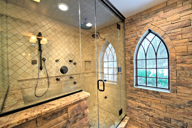 Bathroom Gothic Window Traditional Bathroom Other