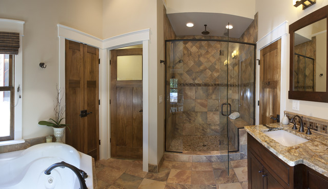 Bathroom ideas by brookstone builders craftsman for Craftsman bathroom designs