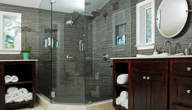 Charmant Example Of A Trendy Bathroom Design In Dallas