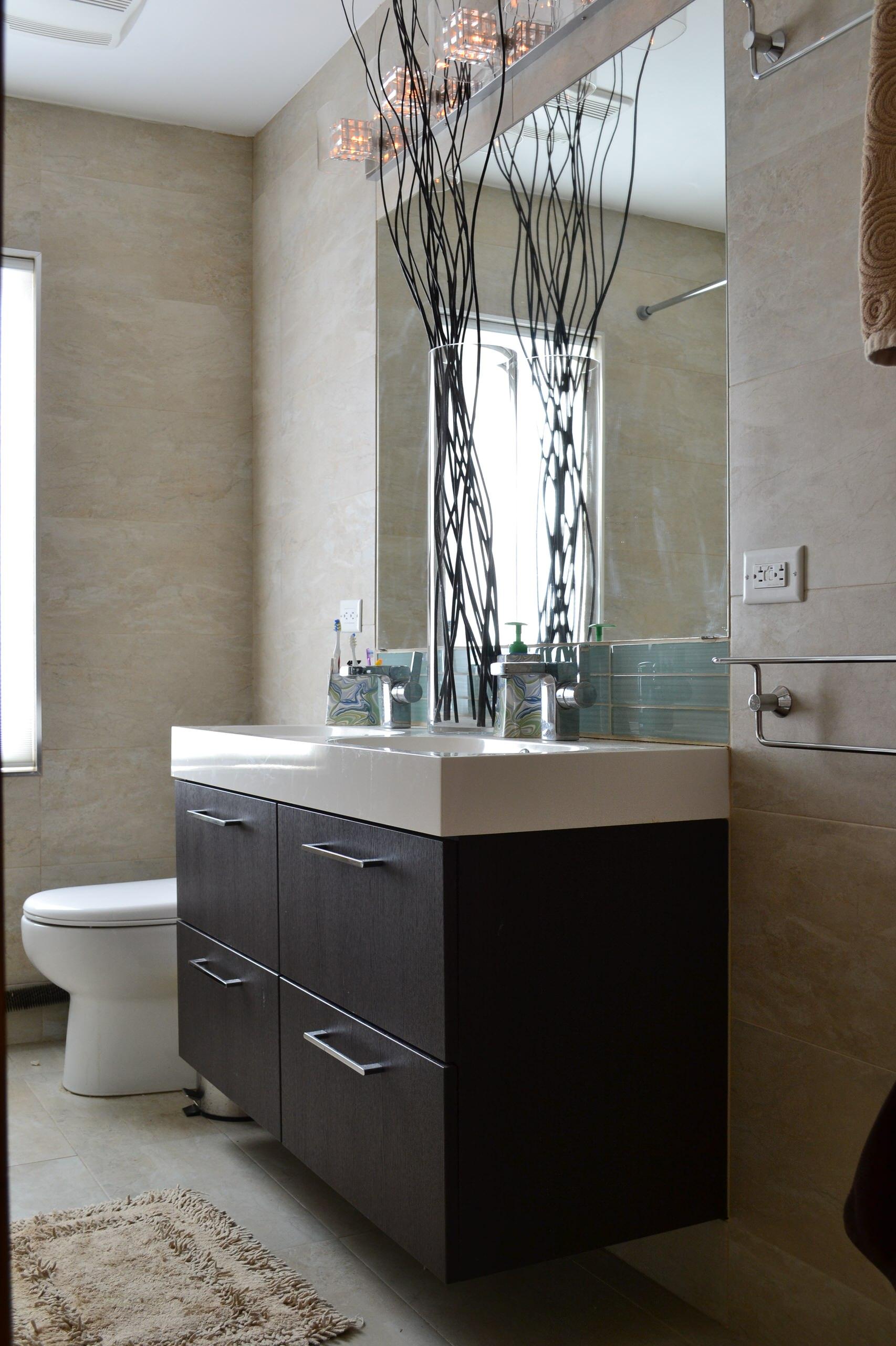 Bathroom in natural tones