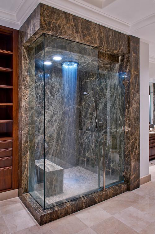 ideas de decoracin las duchas ms alucinantes que convertirn tu bao en un spa fotos idealistanews - Duchas Grandes