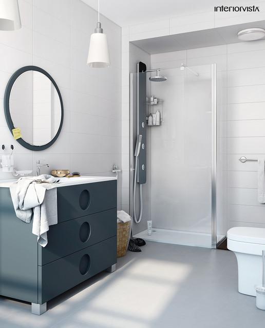 Bathroom contemporary bathroom london by interiorvista for Home automation shower