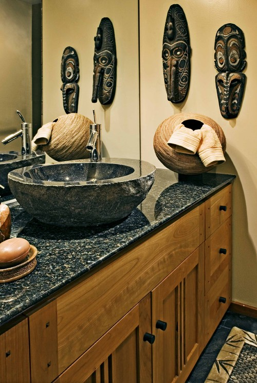 Interior design and more african inspired interior accents and design - Oriental bathroom decor ...
