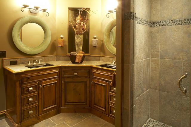 Innovative  Bathroom Vanity Lights Alongside Traditional Bathroom Sink Faucets