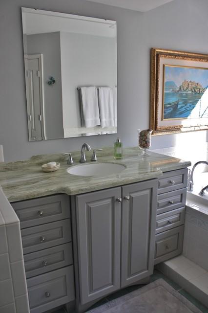 bathroom kraftmaid marquette door style maple pebble grey beach