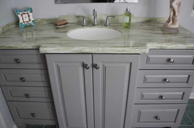 pebble grey bathroom cabinets bathroom kraftmaid marquette door style amp maple pebble 19919