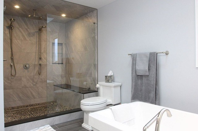 Bathroom Large Shower And Soaker Tub