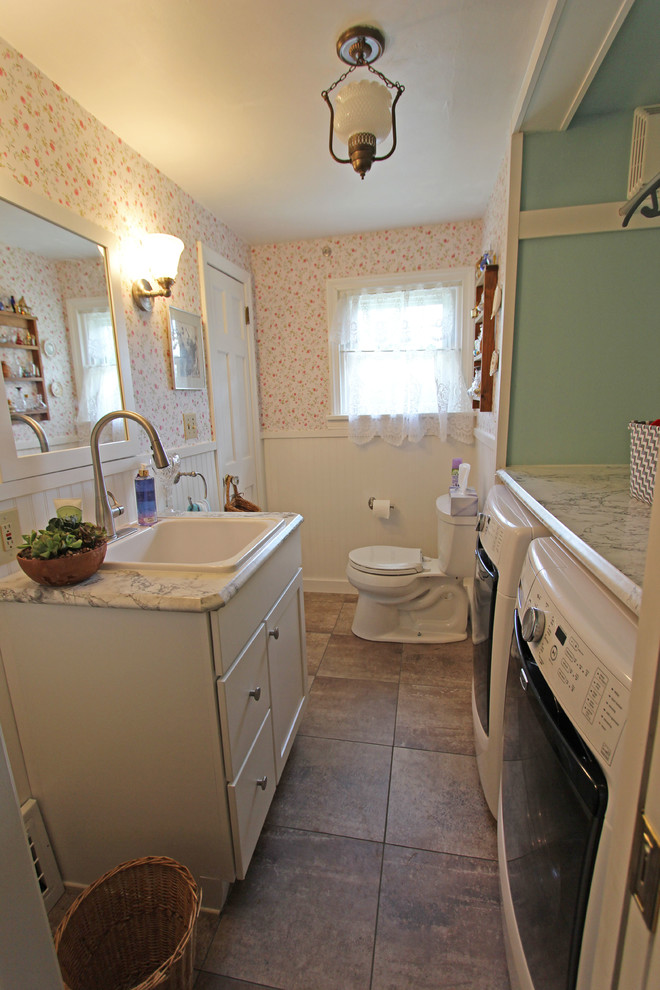 bathroom / laundry room combo ~ medina, oh #1 - farmhouse