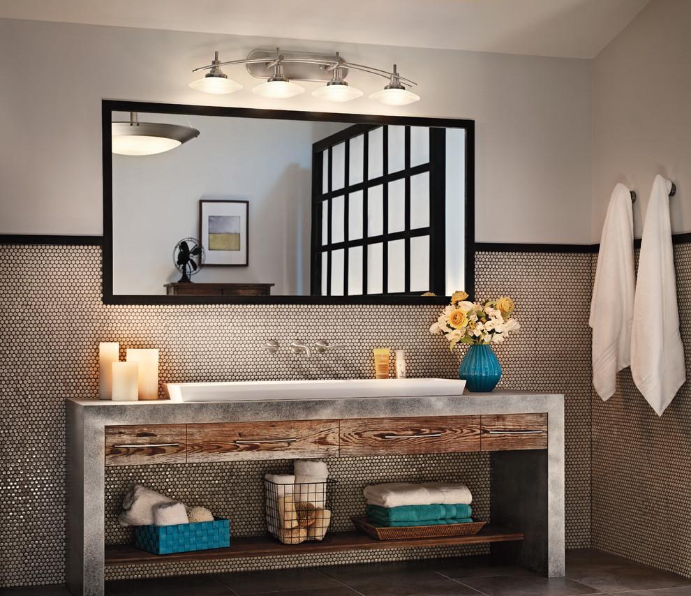 Bathroom - industrial bathroom idea in Cleveland