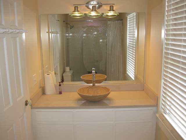 Limestone Sink : Bathroom - Limestone Top and Sandstone Sink - Traditional - Bathroom ...