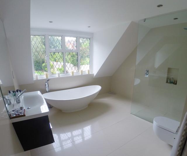 Bathroom Loft Conversion In Hertfordshire Potters Bar Modern Bathroom Hertfordshire By