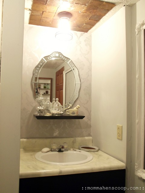 Bathroom madeover on $0! eclectic-bathroom