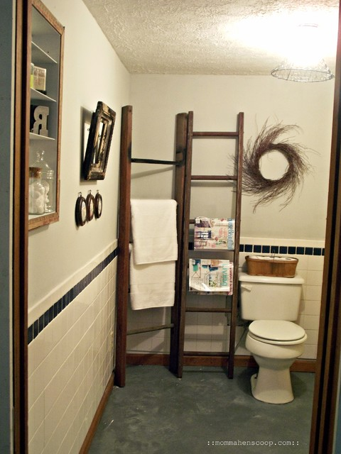 Bathroom madeover on $0! eclectic bathroom