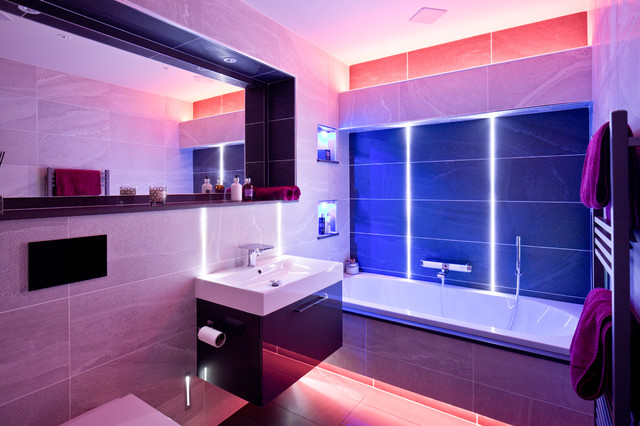 Bathroom contemporary bathroom other by majik house for Home automation shower