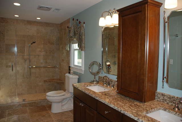 Bathroom makeover vanity traditional bathroom for Bathroom makeover pictures