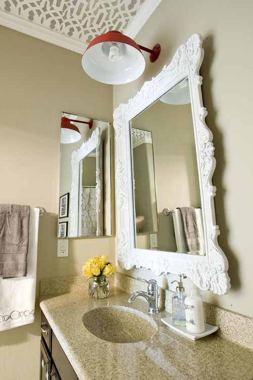 Vanity Area with Ornate Mirror