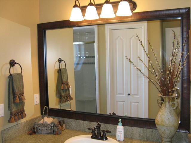 Bathroom Mirror Frame Traditional Bathroom Salt Lake