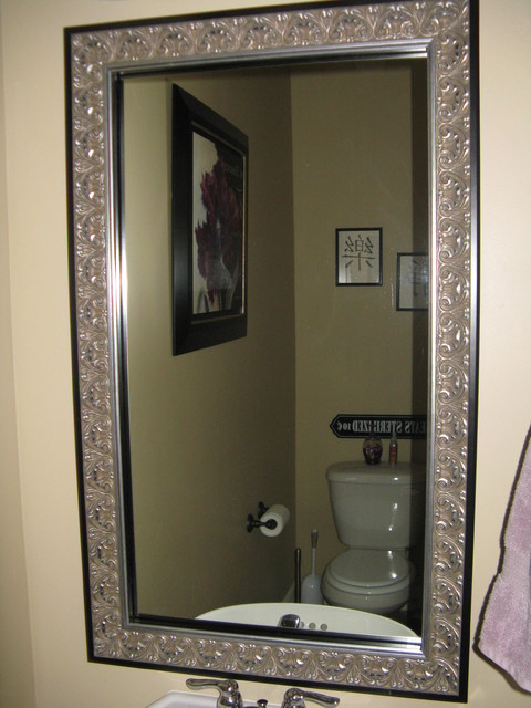 frame existing bathroom mirror bathroom mirror frame traditional bathroom salt lake 18379